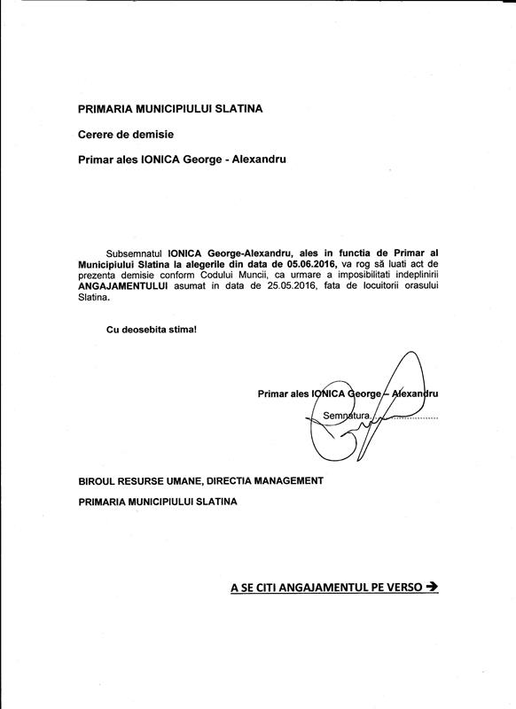 FATA - angajament Primar Slatina