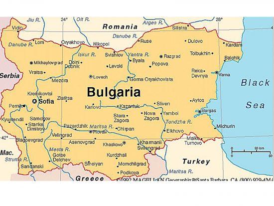 Bulgaria Harta Orase Bulgaria Olt Alert